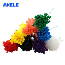 Zip Ties Colorful Factory Standard Self-locking Plastic 3*100mm 100pcs/bag 8 Colors Nylon 66 Fasten Wire Wrap Strap CE UL ROHS(China)