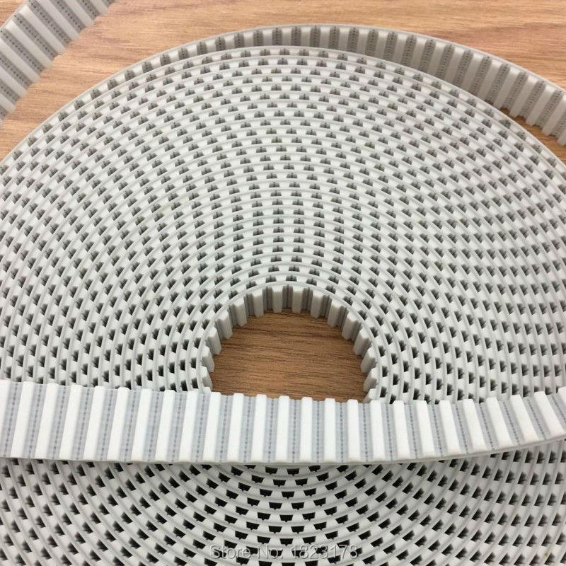 50meters lot T5 timing belt T5 15MM PU open belt width 15mm Pitch 5mm white Polyurethane