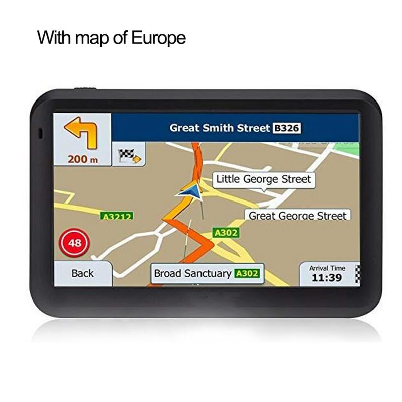 Touch-Screen Car-Gps-System 5inch Sat Nav RAM256M FM with Free-Map Travel ROM8GB