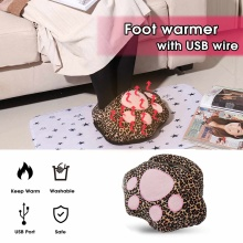 Warmtoo 2Colors USB Cute Catlike Foot Warmer Shoes Portable Feet Warm Treasure Winter Warm Plush Shoe Electric Heating