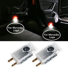 For Mercedes Logo Car Door Light Welcome Courtesy Light LED Fit For VIANO VITO E W210