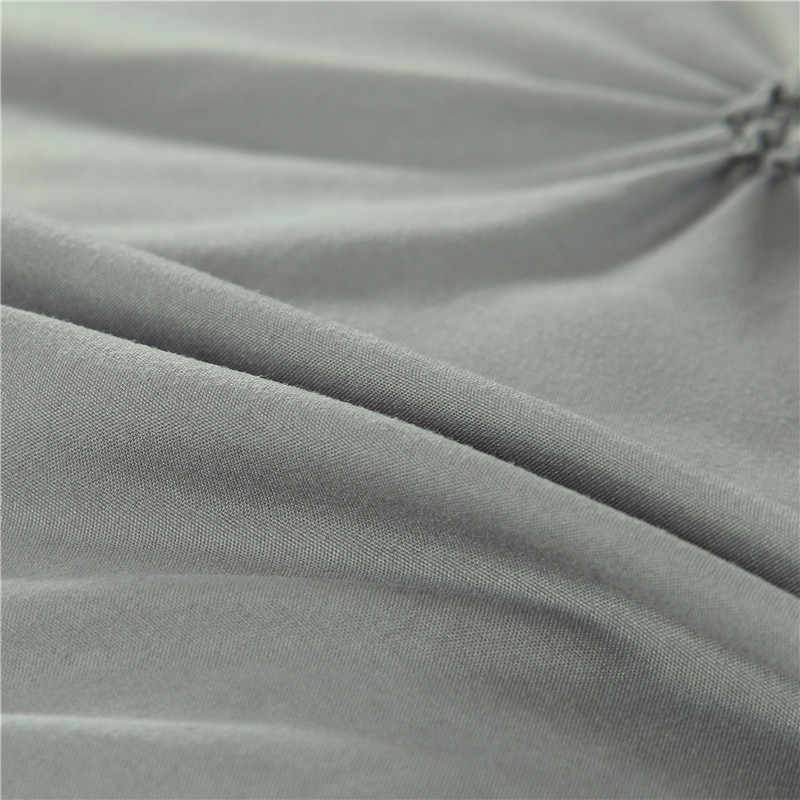 2/3pcs Luxury Duvet Cover Set Pinch Pleat White/Black/Grey/Red/Blue Bedding Sets Twin/Full/Queen/King Size No Filling,No Sheet53