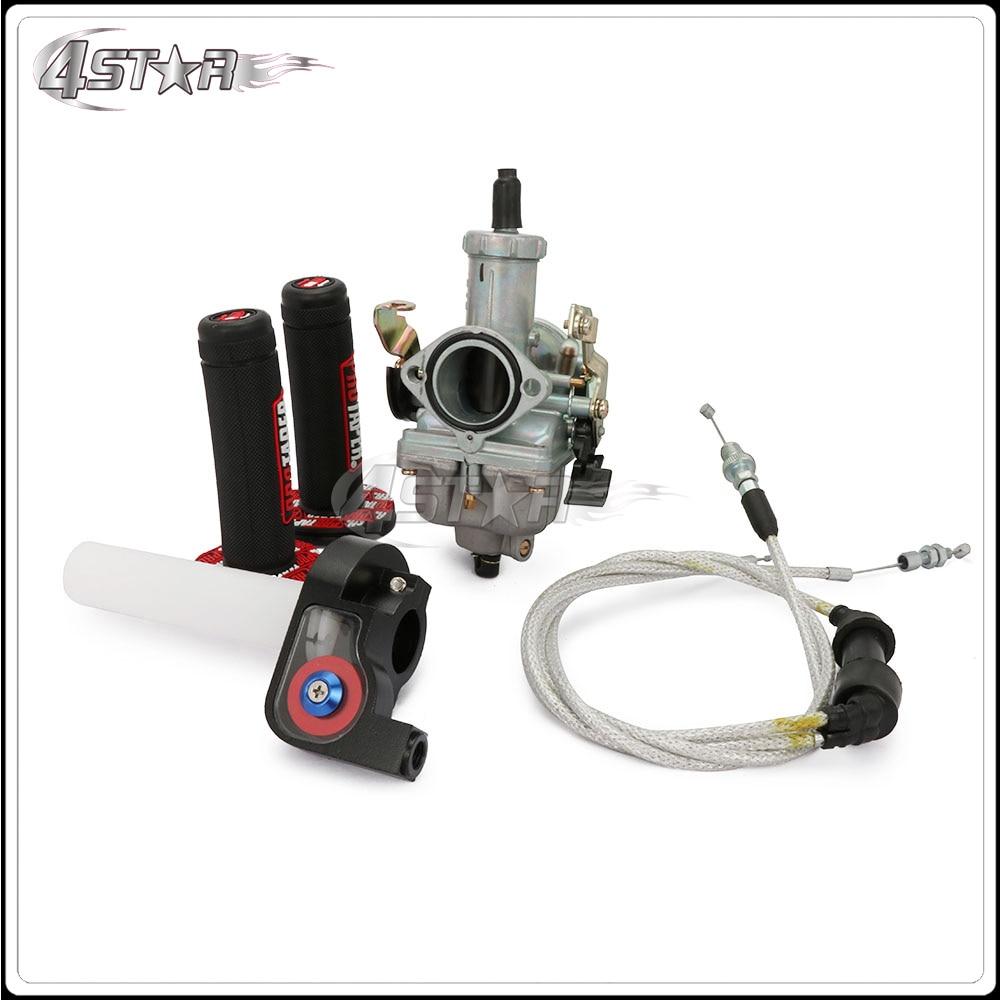 Moto PZ30 Power arburetor accélération pompe course 200cc 250cc double renforcé câble Visiable Twister Grips