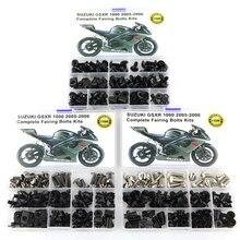 цена на For Suzuki GSXR 1000 GSX-R1000 2005 2006 Motorcycle Complete Full Fairing Bolts Kit Washer Fastener Steel Nut OEM Style Black