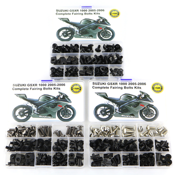 For Suzuki GSXR 1000 GSX-R1000 2005 2006 Motorcycle Complete Full Fairing Bolts Kit Washer Fastener Steel Nut Black цена 2017