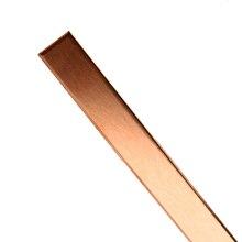 99% медная полоса высокой чистоты T2 кубический металлический лист пластина Чистая медь стержень для DIY CNC PCB Kit ламинат печатная плата 1,5 мм * 10 мм * 250 мм