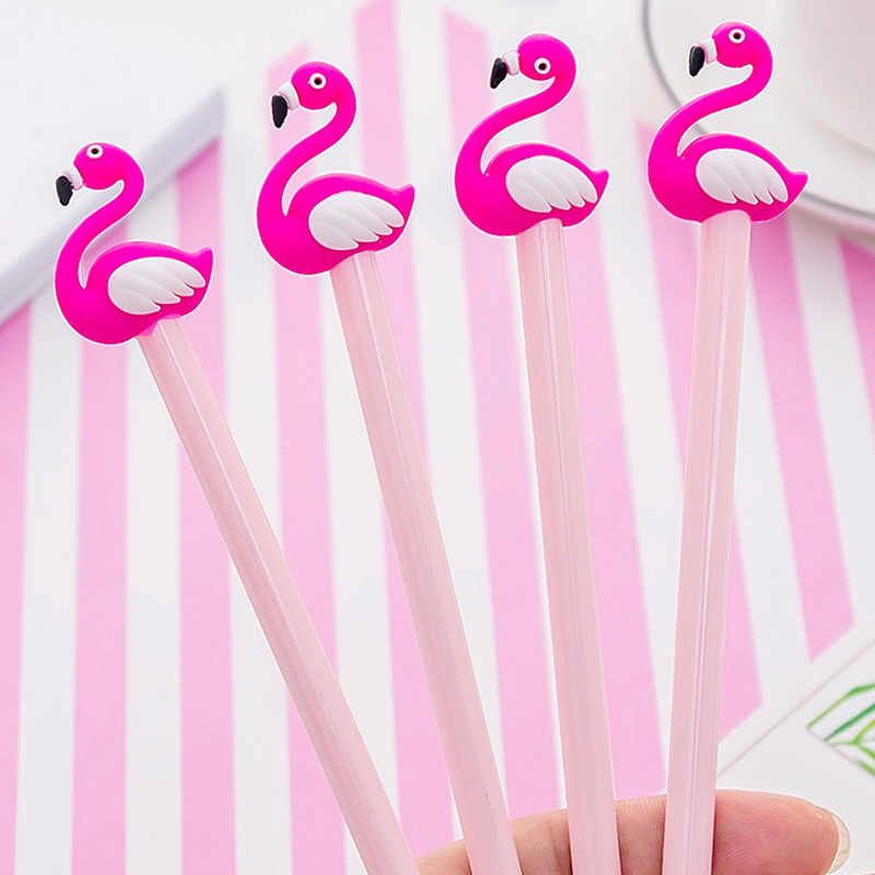 Ellen Brook Cute Flamingo Kawaii School Supplies Stationery Gel Ink Pens Gift School Stationery Office Suppliers Kids Pen Tool