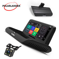 One button driving recorder GPS 8 inch automatic folding image integrated machine navigation reversing Android 4G