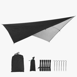 Image 4 - Outdoor Portable Hammock Tents Waterproof Beach Picnic Pad Summer Sunshade 290*290cm Large Light Awning Hamak For 2 3 People