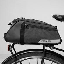 Cycling Handbag Shoulder Carrier Basket Back Seat Bike Shelf Bike Bag 8L Large Capacity, Reflective Logo