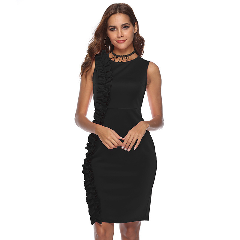 MUXU tunic black bodycon dress plus size women clothing patchwork vestidos kleider sundress fashion summer clothes sexy dresses in Dresses from Women 39 s Clothing