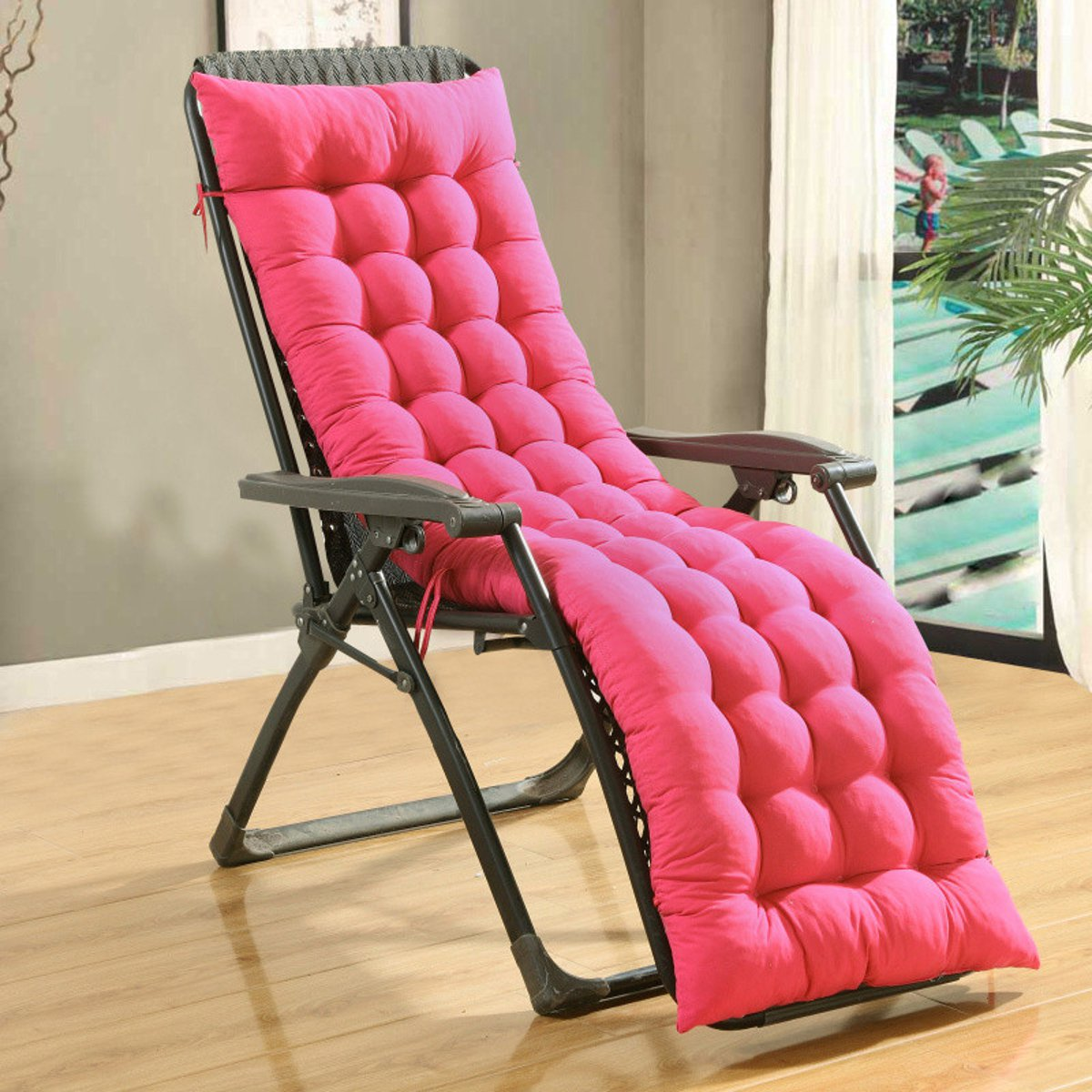 Soft Cotton Seat Pad Lounge Recliner Chair Cover Thicken
