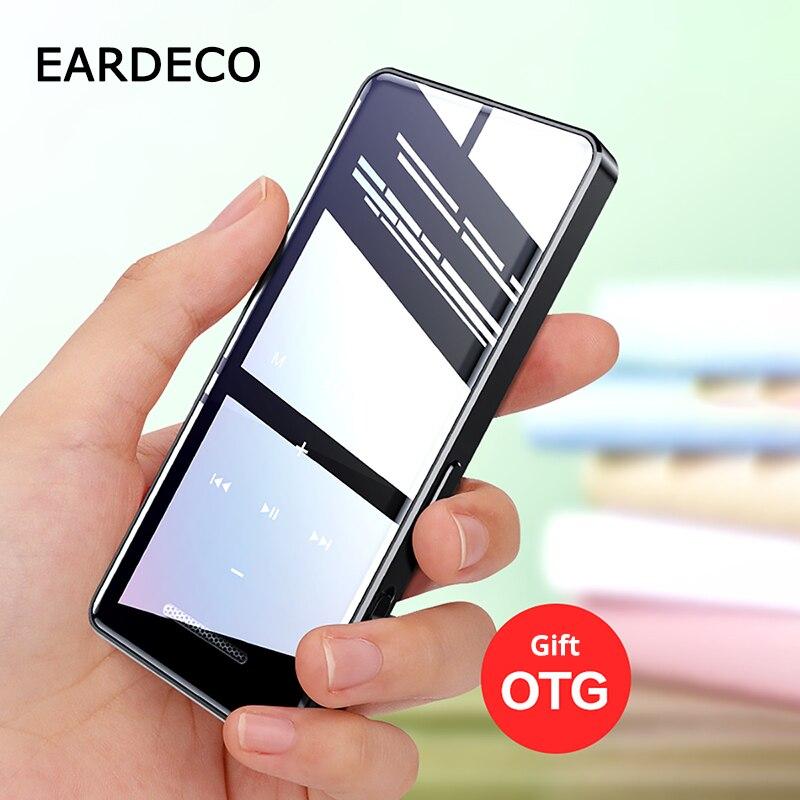 EARDECO Touch Screen MP3 Player Bluetooth Hifi Walkman Music Hi Fi Mp 3 Hi Res Flac Player Hi-fi Audio Lossless Players Clock TF