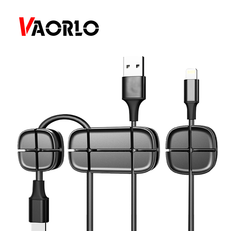VAORLO <font><b>Cable</b></font> Winder Earphone <font><b>Organizer</b></font> Wire Charging <font><b>Cable</b></font> Winder Clip For Car Desktop Digital <font><b>Cable</b></font> Management Storage image