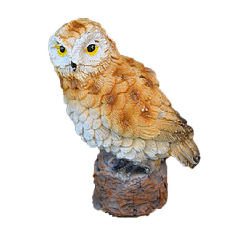 Gardening Decoration Micro-Landscape Mini Simulated Owl Model Garden Ornaments Garden Yard Stand Animal Miniature