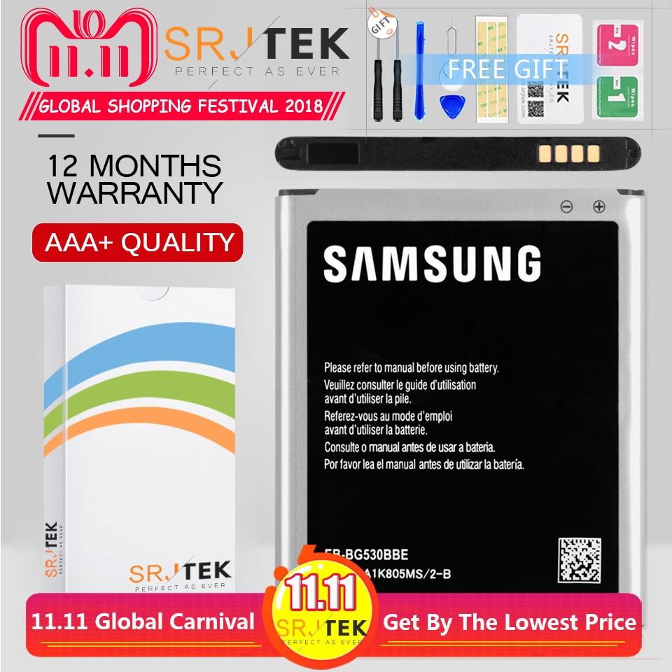 Ferramentas EB-BG531BBE Srjtek Para Samsung Galaxy J3 2016 Bateria 2600 mAh J2 Prime J5 G532 Para Samsung J5 Bateria 2015 para G530 G530H