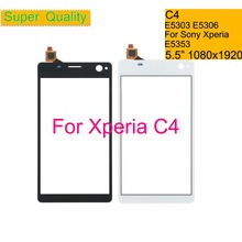 10Pcs/lot For Sony Xperia C4 E5303 E5306 E5353 Touch Screen Digitizer Front Glass Panel Sensor Lens DUAL E5333 E5343 E5363 lcd display for sony for xperia c4 e5303 e5333 e5353 lcd with digitizer touch screen assembly black and white free shipping