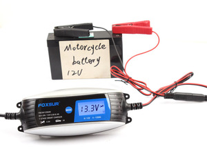 Image 3 - 6V 12V 0.8A 4A skuter motocyklowy inteligentna ładowarka do akumulatora z szybkozłączem SAE, uniwersalna ładowarka AGM EFB WET