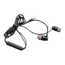 Inline In-Ear Wired Metal Earphone HD Stereo Sports Karaoke Bass Comfortable And Portable Compatible With 3.5mm Device Plug 3 5mm plug stereo in ear earphone black 114cm