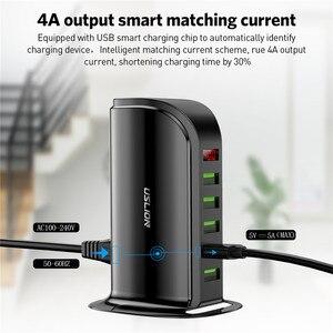 Image 5 - 5 Port Multi USB Charger HUB LED Display USB Charging Station Dock Universal Mobile Phone Desktop Wall Home Chargers EU UK Plug