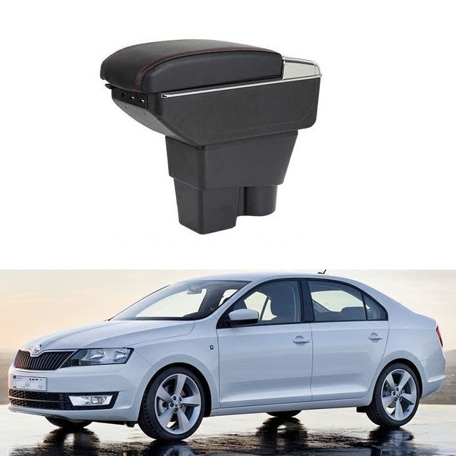 Automobiles Car-styling Arm Rest Car Upgraded Styling Accessory Auto Modified Armrest Box 13 14 15 16 17 18 FOR Skoda Rapid