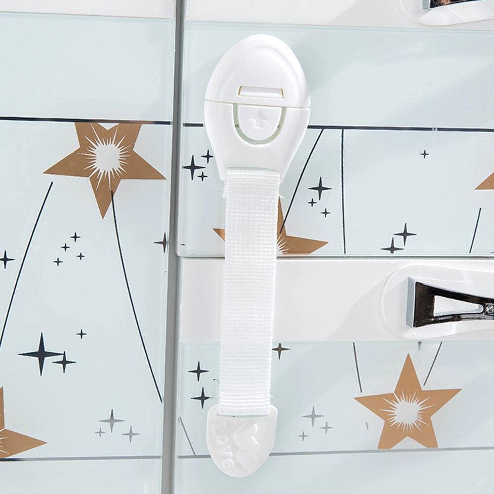 Блокирующий замок для шкафа замок холодильника Детская безопасность блокировка белый домашний холодильник шкаф Полезная Младенческая холодильник дети шкаф