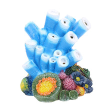 new Fish light Coral aquarium fish tank toy decoration ornaments oxygen pump bubble stone drive D25