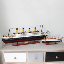 Titanic Wood Sailing Ship Models furnishing articles Creative Boat Nautical Home Decor Gifts Crafts decoration souvenir
