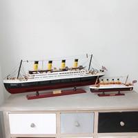 Titanic Wood Sailing Ship Models furnishing articles Creative Boat Nautical Home Decor Gifts Crafts decoration souvenir
