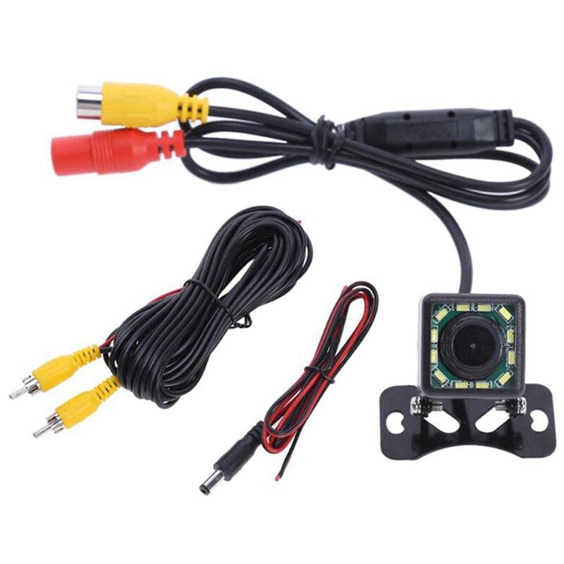 Trajetória 12 Dinâmica LED Car Rear view camera170 Ângulo Câmera Reversa Universal Veículo Câmera para V W F o r d T ó y o t a