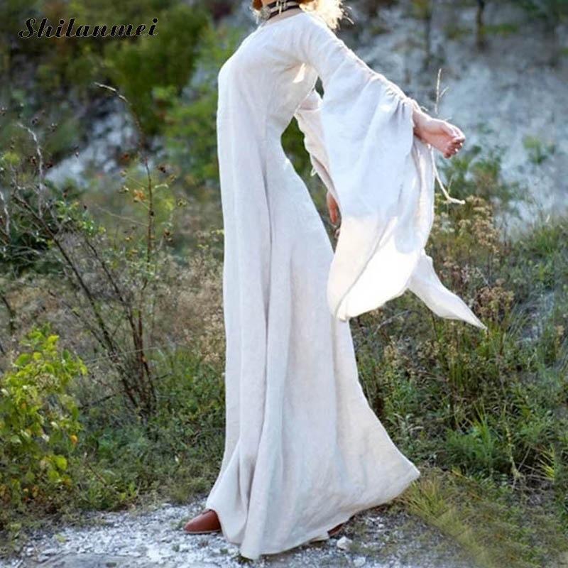 57144b095eef9 Classic Vintage Women Vintage Medieval Dress Cosplay Costume ...
