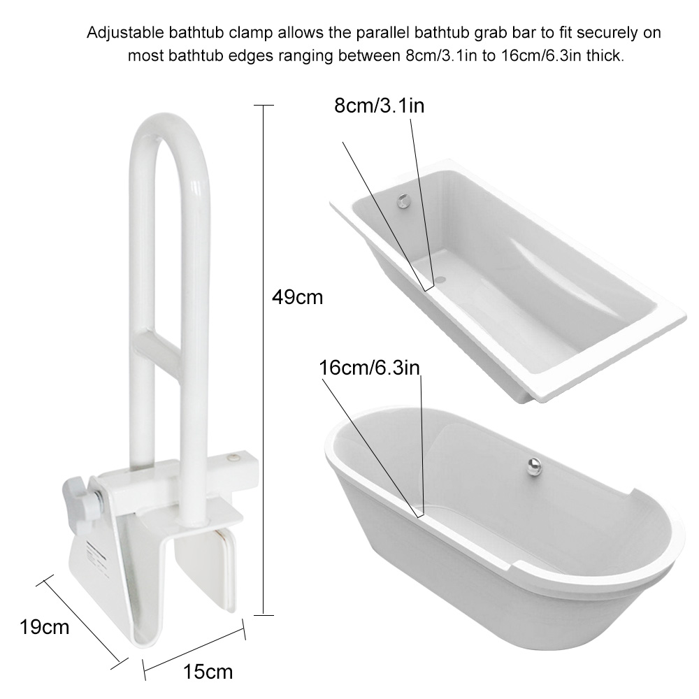 Badewanne Schiene Bad Badewanne Sicherheit Dusche Einstellbare Hand Grip Für Ältere Handicap Und Behinderte Schwangere Frau Kinder Geländer Starke Verpackung