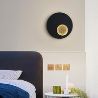 Modern LED Wall Lights For Bedside Corridor Lighting White Black Grey Creative Earth Sconce Lamp Luminaria Luminaire Deco Maison