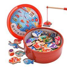 Магнитная рыбалка родитель-ребенок интерактивные игрушки игры дети 30 шт. деревянная рыба Детские Игрушки для ванны интеллектуальная игрушка узнать Новые забавные