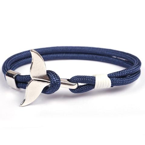 Shark Tail Whale Anchor Bracelet For Men Women Fashion Nylon Rope Chain Paracord Bracelet Male Wrist Bands Lahore