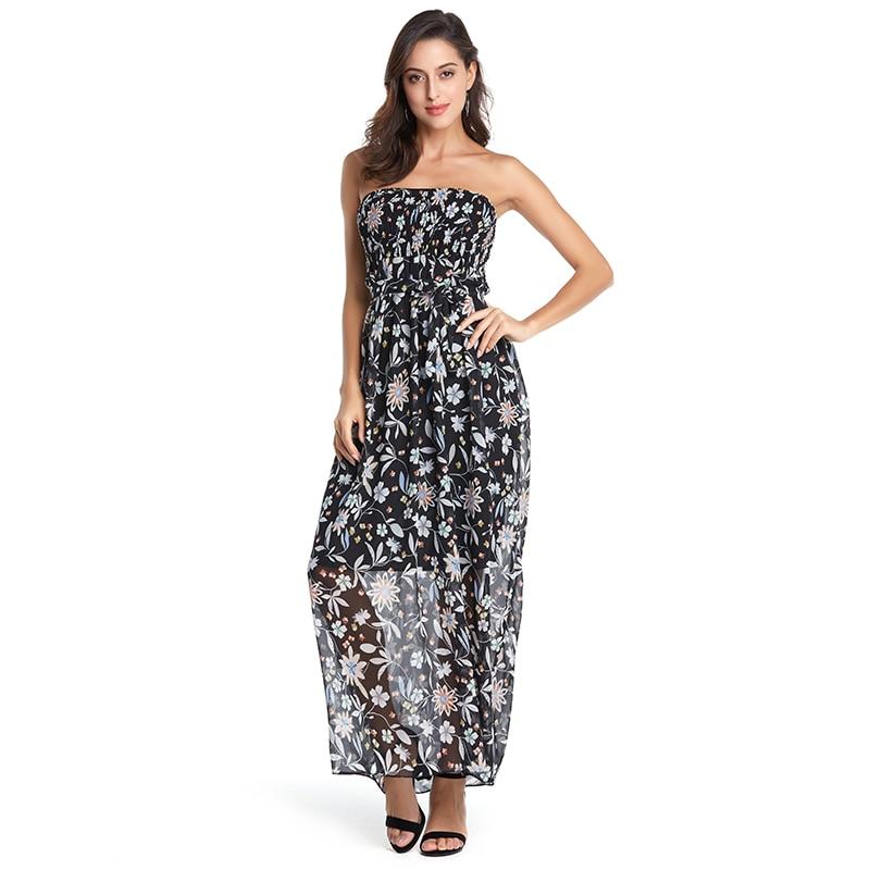 34e1618086f2 ... Floral Print Vintage Chiffon Maxi Dress Boho Style Long Dress Women Off  shoulder Beach Summer Dresses Vestidos 2018 de festa. -26%. Click to enlarge