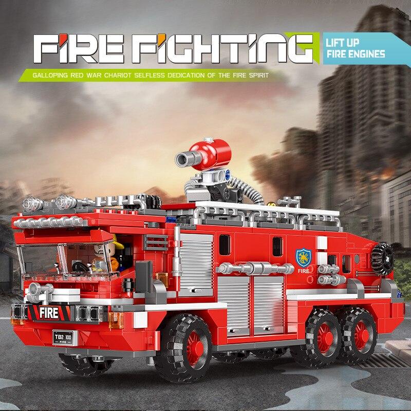Xingbao blocs de construction en plastique brique technique série camion de pompier jouets éducatifs pour enfants pompier assembler kit de bricolage