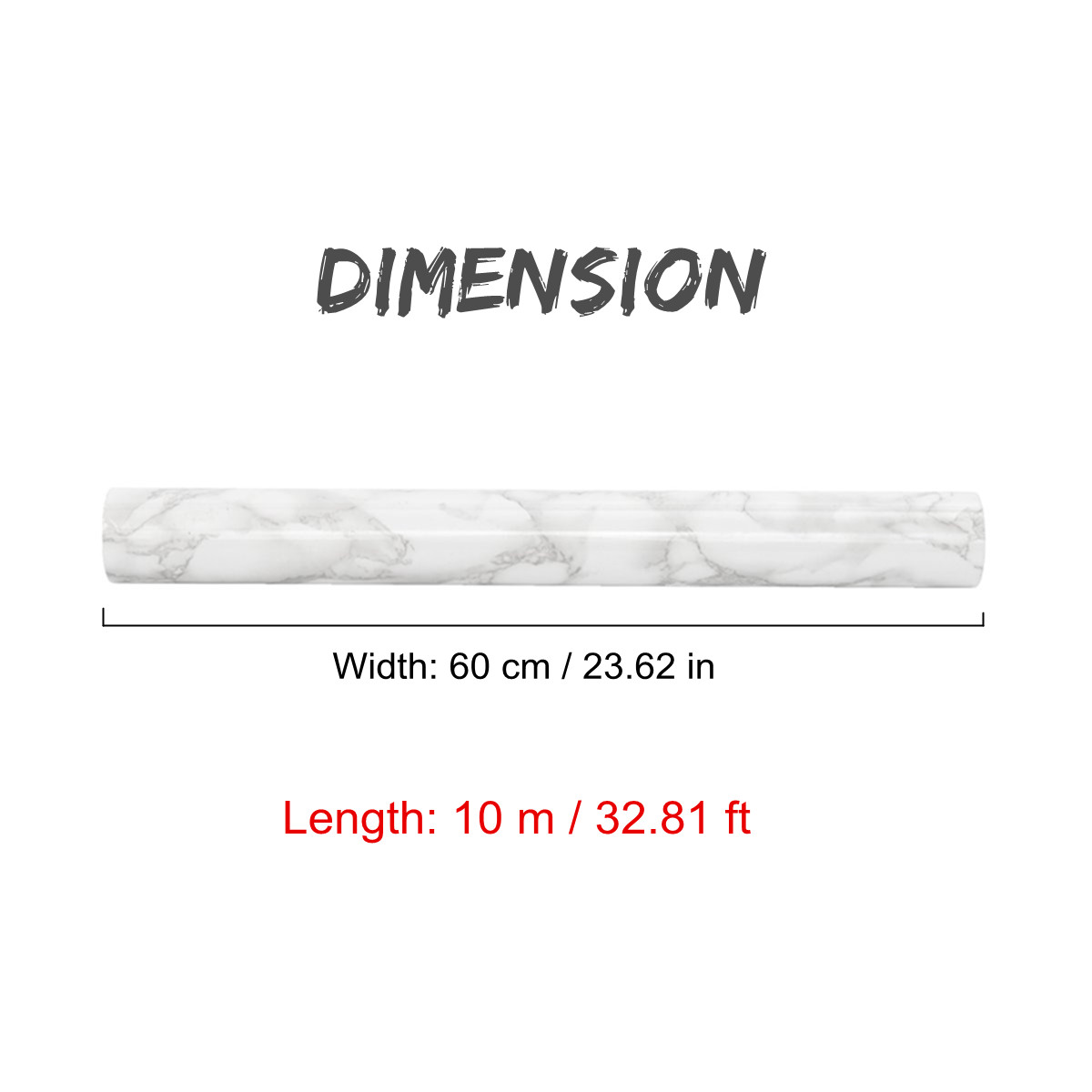 PVC Self Adhesive Studio Marble Texture Wallpaper Roll Bedroom Wall Sticker Refurbished Wardrobe Cupboard Home Decor 0.6x10M