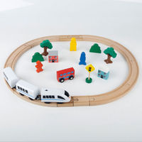 30pc Baby Boy Girl Kids Multifunction Educational Hand Crafted Wooden Train Set Triple Loop Railway Track Kids Toy Play Set