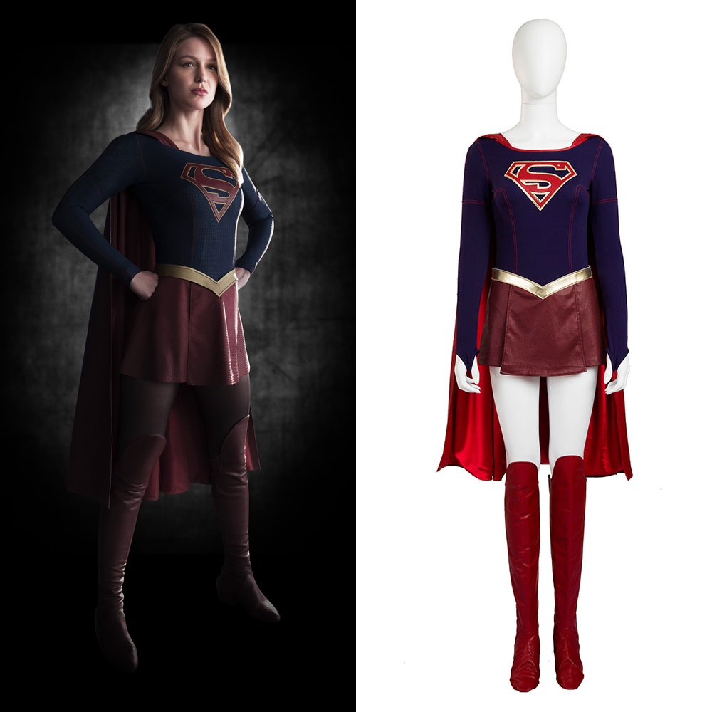 Supergirl Kara Zor-El Danvers Cosplay Costume Halloween Outfit