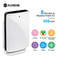 AUGIENB HEPA Filter Home 80W Air Purifier Humidification 5 Stage Odor Allergies Eliminator for PM2.5 Smoke Dust Mold Air Cleaner