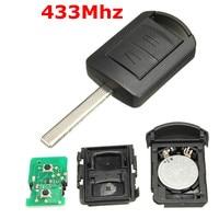 2 knop HU100 Ongecensureerd Blade Remote Auto Fob Sleutel 433 Mhz ID40 Transponder Chip Voor Opel voor Vauxhall Corsa C meriva Tigra Combo
