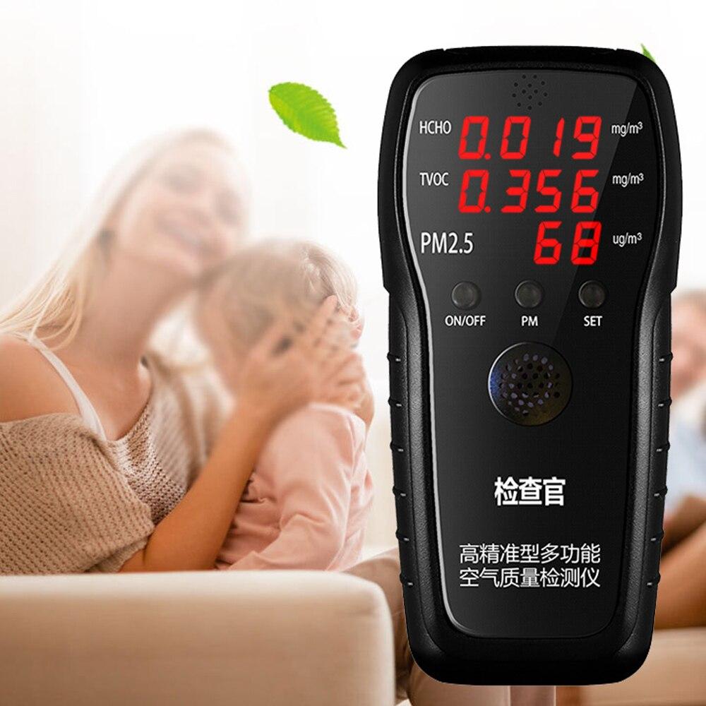 Analysatoren Gas Analysatoren Kraftvoll Genaue Multifunktionale Air Qualität Detektor Hcho Tvoc Pm2.5 Tester Mit Pm2.5 Laser Sensor Eine Hohe Bewunderung Gewinnen