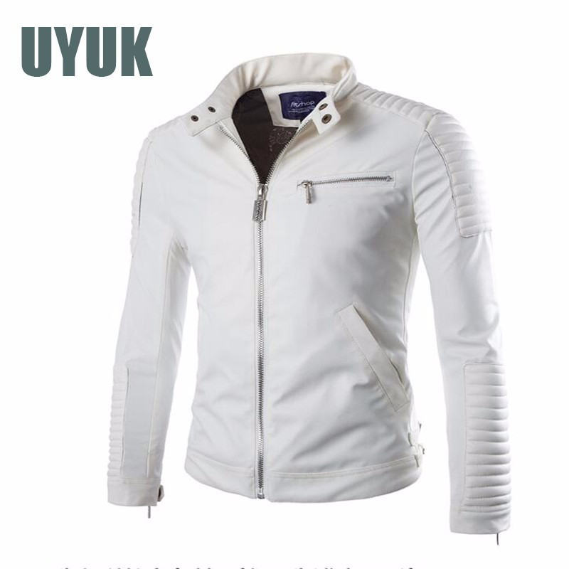 European And American Style Men's Elbow Skin Super Short Motor 2019 New Leather Student  Jacket Wild Zipper Shirt