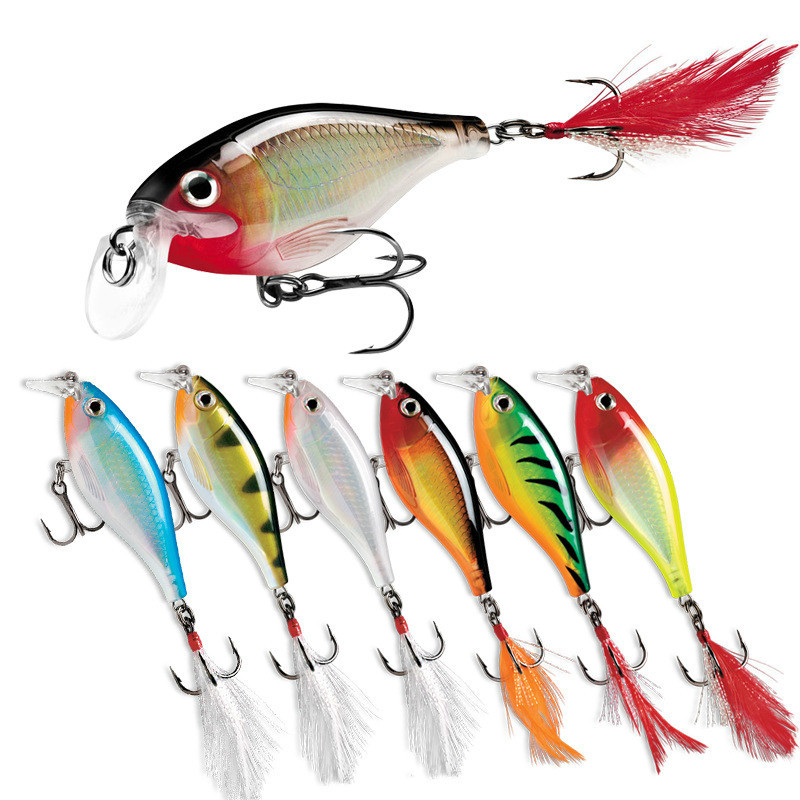 9cm/13g Artificial Bait Fishing Lure  Wobbler Surface Dog Walking Pencil With Feather Hook Crankbait Lead Jigs Fishing Lures