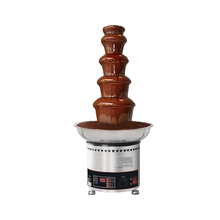 5 Tiers Chocolate Fountain Machine Stainless Party Hotel Chocolate Fountain Waterfall 4kgs Chocolate Capacity EU/UK/UL/AU Plug недорого