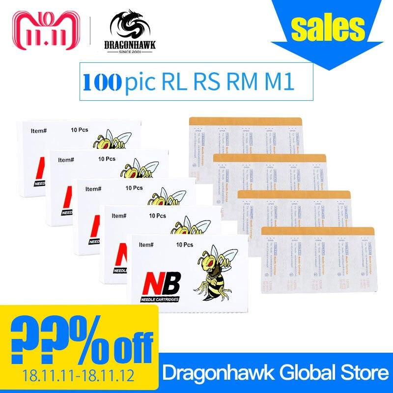 купить 100 pcs Mix Size Disposable Tattoo Cartridge Needles RL RS RM M1 For Tattoo Pen Cartridge Grips Supplies по цене 4903.3 рублей