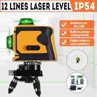 12 linien Grüne Linie Laser Ebene + Basis + Wand Rahmen Selbst nivellierung Horizontal & Vertikal 360 Grad Einstellung 3D Laser Strahl