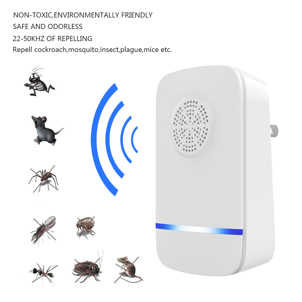 Ultrasonic Pest Repellers Electronic Mosquito Insect Mouse Repeller Mosquito Repellent Lamp Led  Mosquito Killer Drop Shipping