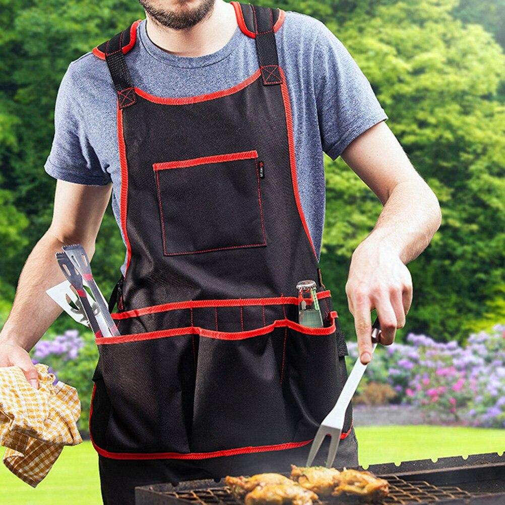 1pc Men Women Garden Tool Apron Wear-resistant Multi-Pockets Multifunction Apron For Cleaner Garden Workers